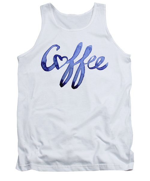 Coffee Love Typography Tank Top