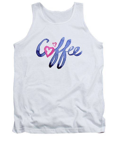 Coffee Lover Typography Tank Top