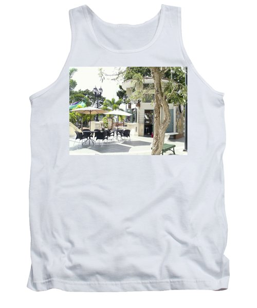 Coffee Lover's Expresso Bar At The Moll Boscana Town Square Tank Top