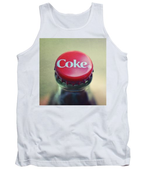 Tank Top featuring the photograph Coke Bottle Cap Square by Terry DeLuco