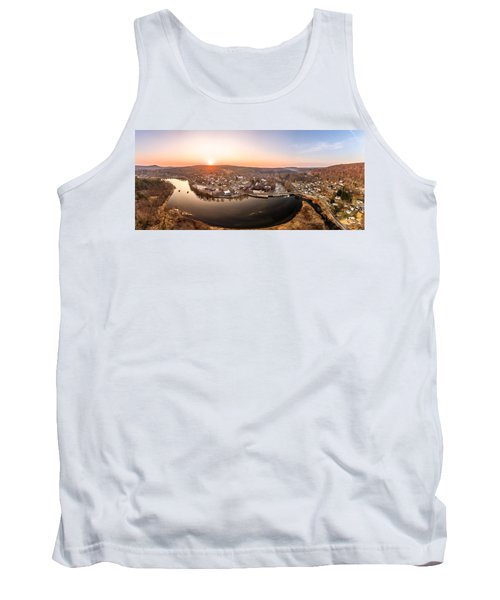 Colinsville, Connecticut Sunrise Panorama Tank Top by Petr Hejl