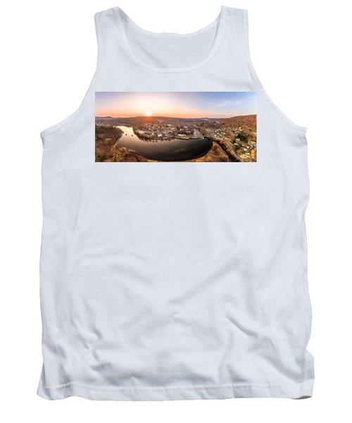Colinsville, Connecticut Sunrise Panorama Tank Top