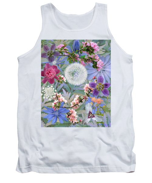 Tank Top featuring the digital art Collage One by John Selmer Sr
