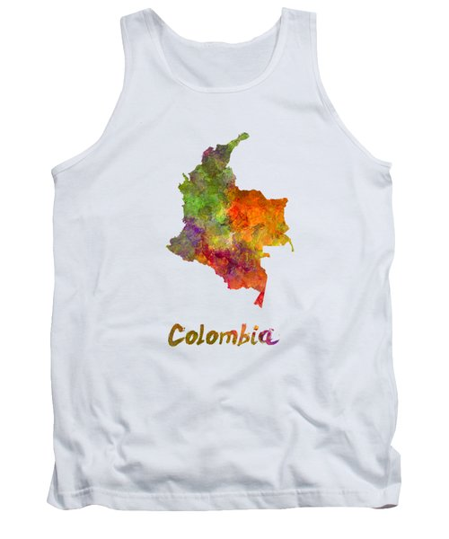 Colombia In Watercolor Tank Top