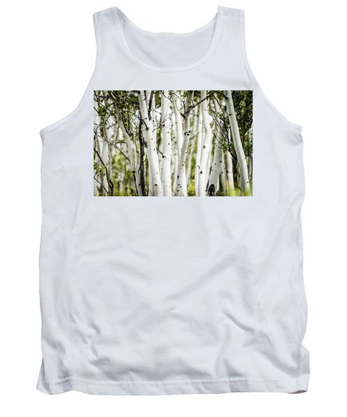 Tank Top featuring the photograph Colorado Aspens by Dawn Romine