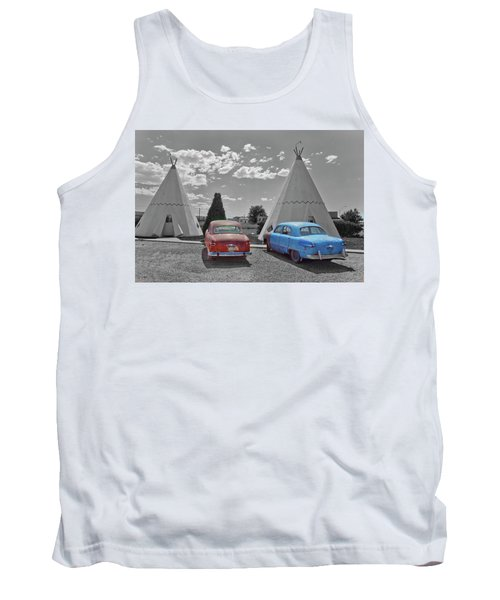 Colored Cars And Tee Pee Motel--holbrook Tank Top