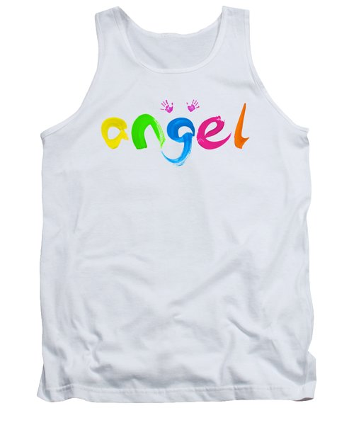 Colorful Angel Tank Top by Tim Gainey
