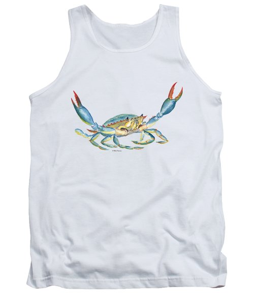 Colorful Blue Crab Tank Top