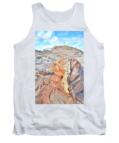 Colorful Boulder At Valley Of Fire Tank Top by Ray Mathis