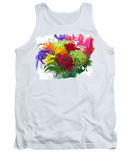 Colorful Bouquet Tank Top by Kathy Moll