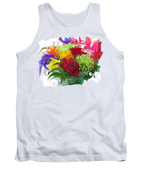 Colorful Bouquet Tank Top