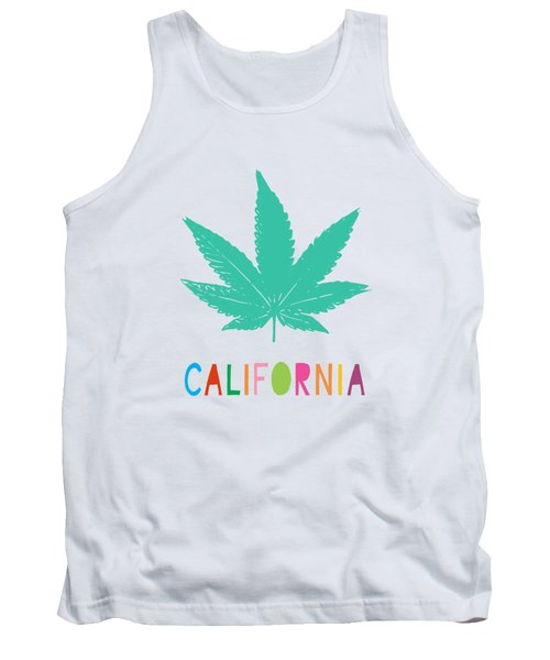 Colorful California Cannabis- Art By Linda Woods Tank Top