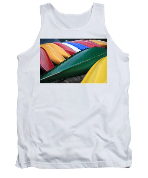 Colorful Canoes Tank Top by Catherine Alfidi