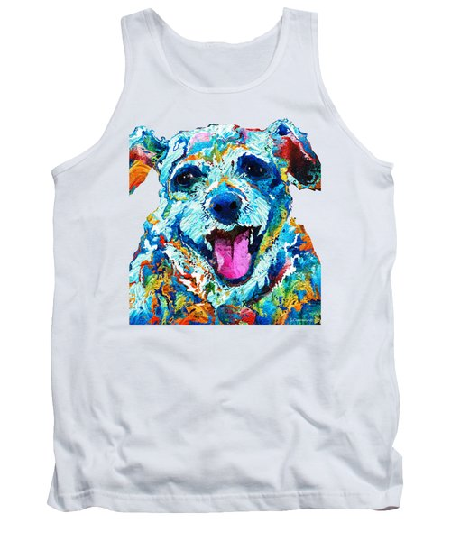 Colorful Dog Art - Smile - By Sharon Cummings Tank Top