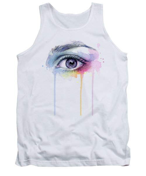 Colorful Dripping Eye Tank Top