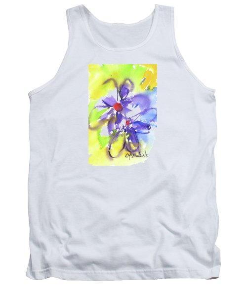 Colorful Flower Tank Top by Kathleen McElwaine