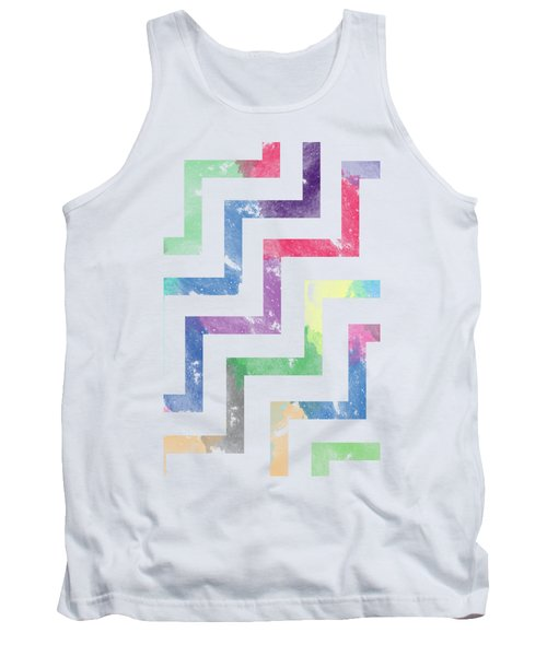 Colorful Geometric Patterns Vi Tank Top by Amir Faysal