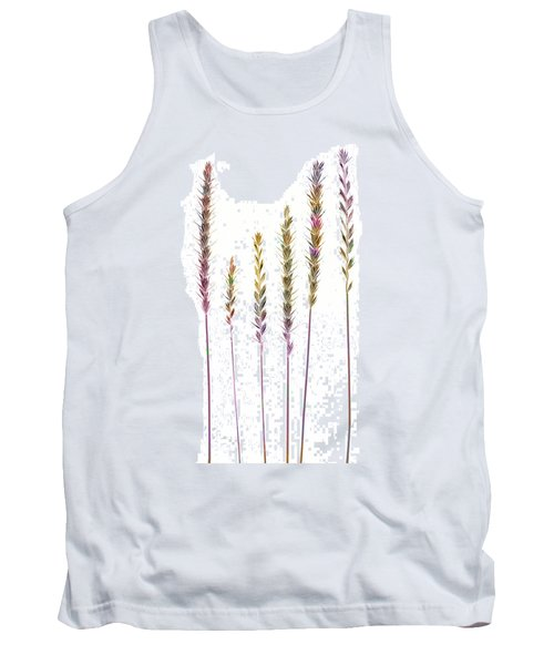 Colorful Grasses  Tank Top by Sandra Foster