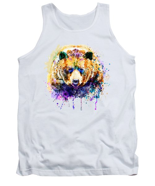 Colorful Grizzly Bear Tank Top