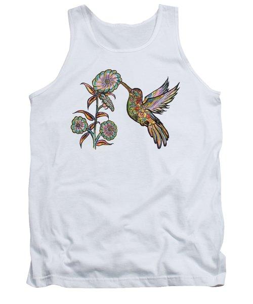 Colorful Hummingbird Tank Top