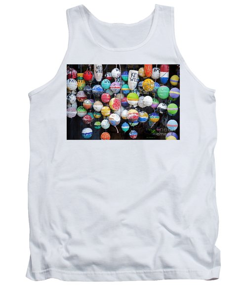 Colorful Key West Lobster Buoys Tank Top by John Stephens