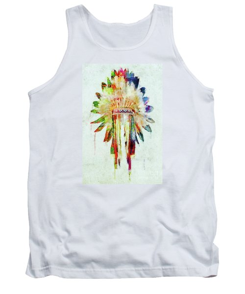 Colorful Lakota Sioux Headdress Tank Top