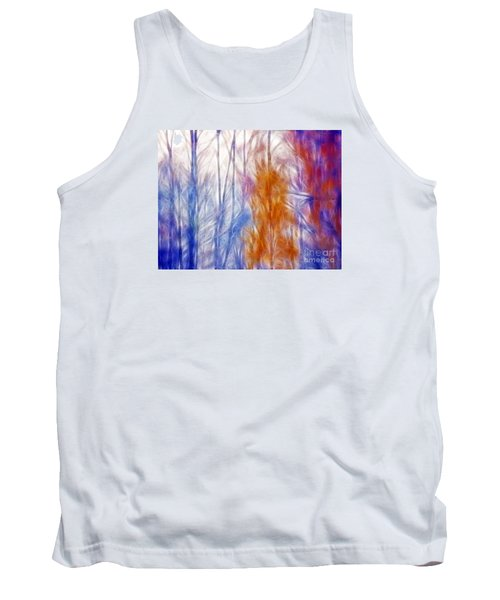Colorful Misty Forest  Tank Top by Odon Czintos