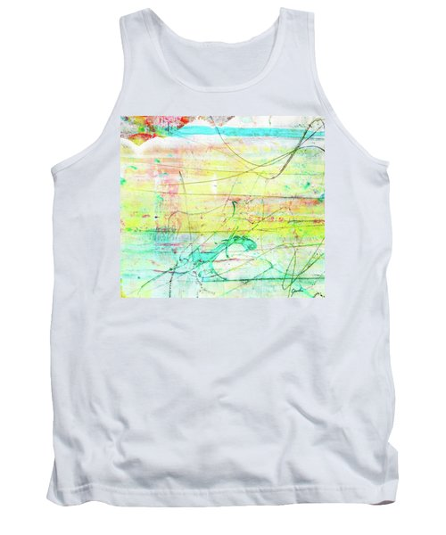 Colorful Pastel Art - Mixed Media Abstract Painting Tank Top