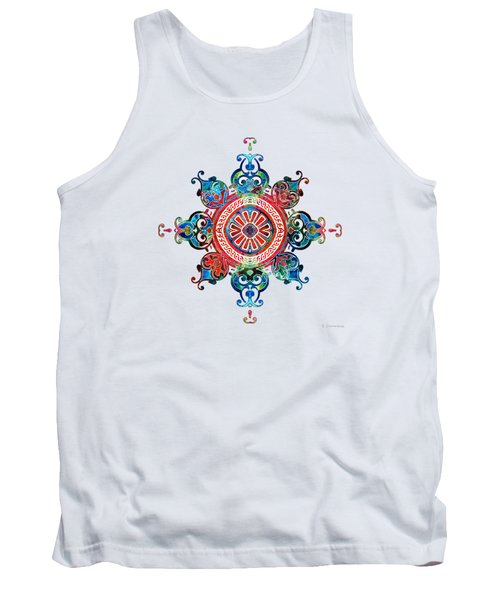 Colorful Pattern Art - Color Fusion Design 3 By Sharon Cummings Tank Top