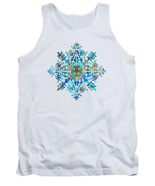 Colorful Pattern Art - Color Fusion Design 5 By Sharon Cummings Tank Top