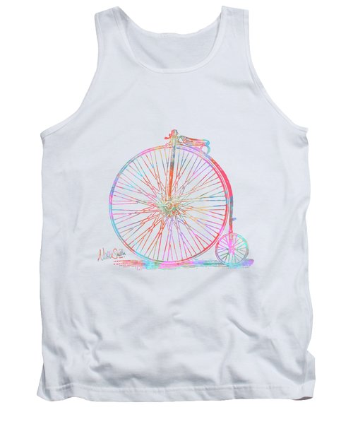 Colorful Penny-farthing 1867 High Wheeler Bicycle Tank Top