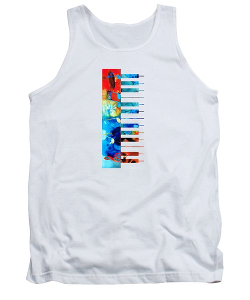 Colorful Piano Art By Sharon Cummings Tank Top