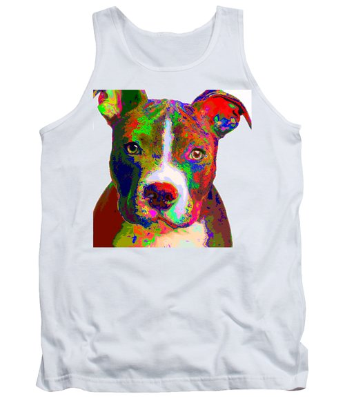 Colorful Pit Bull Terrier  Tank Top