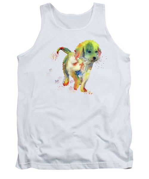 Colorful Puppy Watercolor - Little Friend Tank Top