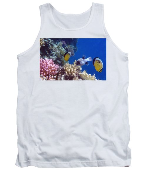 Colorful Red Sea Fish And Corals Tank Top