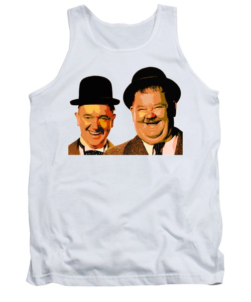 Colorful Stan And Ollie  Tank Top