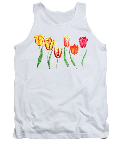 Colorful Tulips Tank Top
