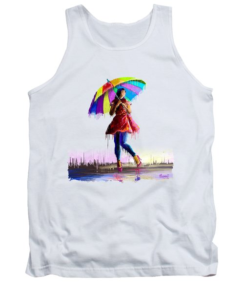 Colorful Umbrella Tank Top