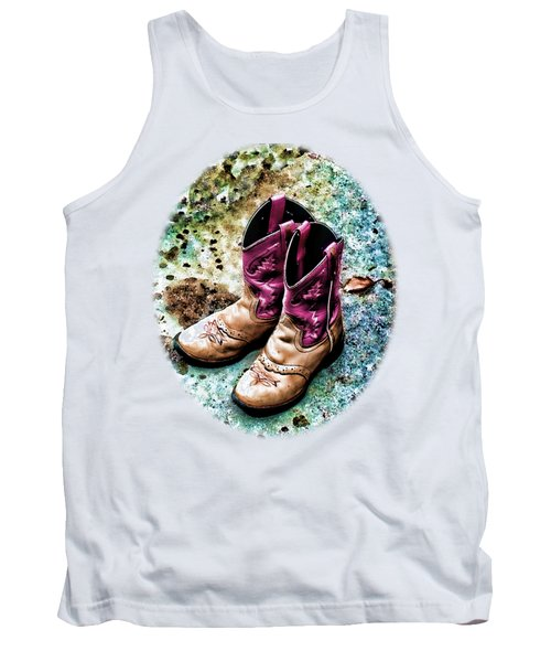 Colors Of A Cowgirl Oval White Tank Top