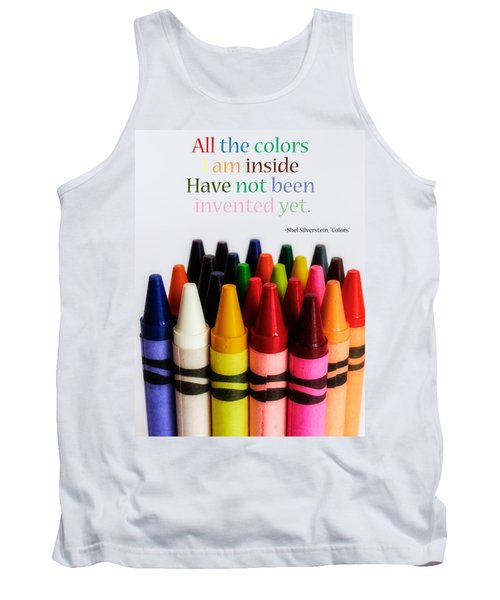 Colors Of Me Tank Top by Julia Wilcox