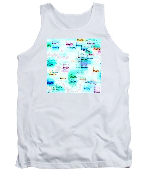 Colour Light Abstraction Invert Tank Top
