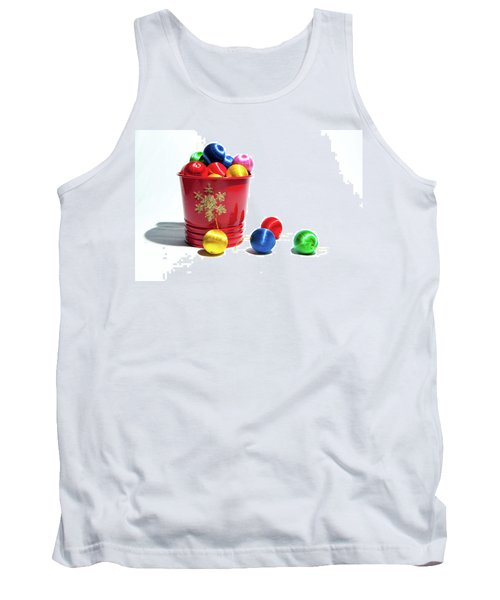 Coloured Baubles In A Pot Tank Top