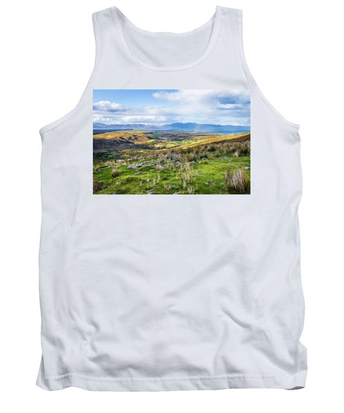 Tank Top featuring the photograph Colourful Undulating Irish Landscape In Kerry  by Semmick Photo