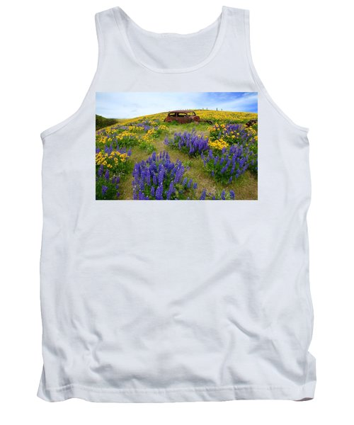 Columbia Hills Wildflowers Tank Top by Lynn Hopwood