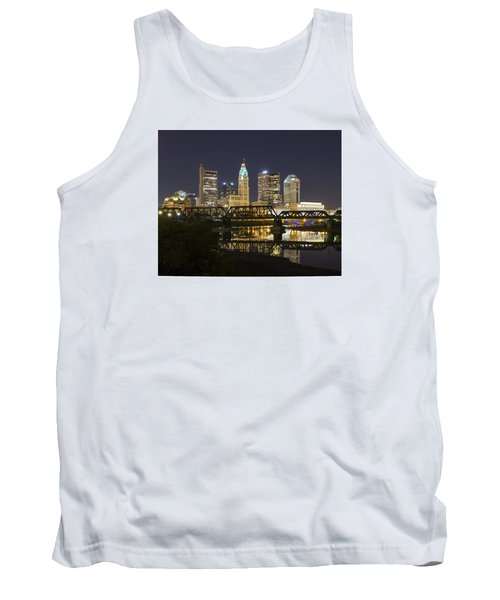 Columbus Skyline 2 Tank Top by Alan Raasch