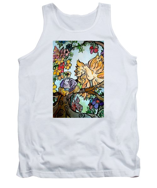 Come Grow Old With Me The Best Is Yet To Be Tank Top by Claudia Cole Meek