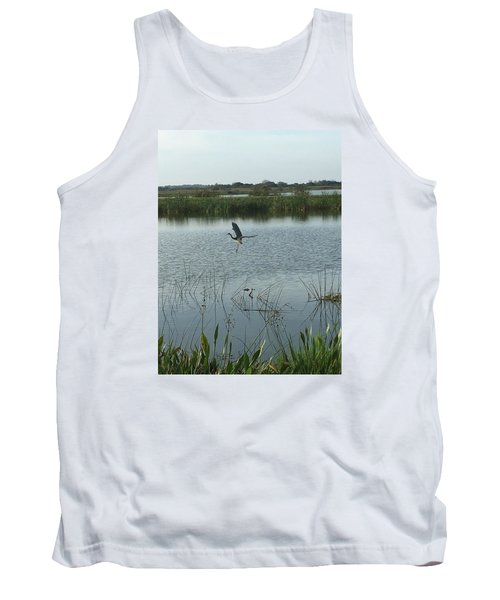 Tank Top featuring the photograph Coming In For A Landing by Kay Gilley