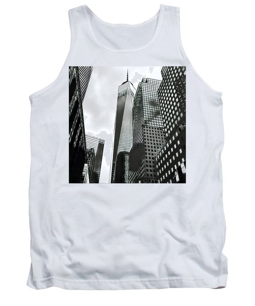 Commuters' View Of 1 World Trade Center Tank Top