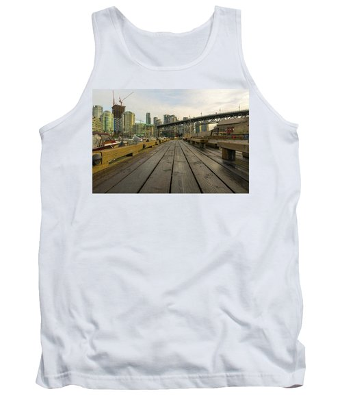 Condominium Buildings Along Granville Island Vancouver Bc Tank Top