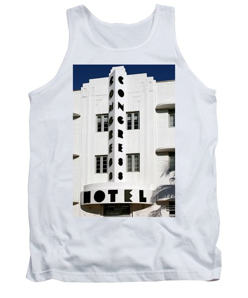 Congress Hotel. Miami. Fl. Usa Tank Top